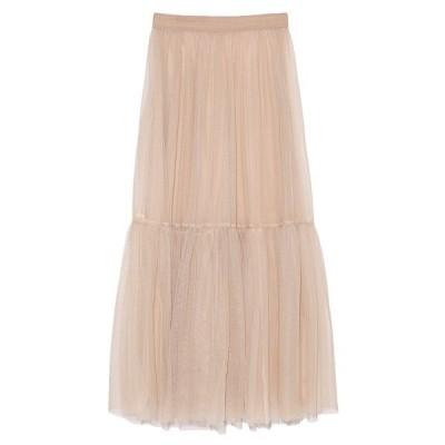 スカート チュールロングスカート
