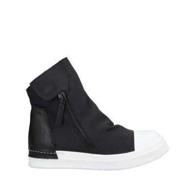 チンツィア アライア CINZIA ARAIA ショートブーツ ブラック 40 革 / 紡績繊維 ショートブーツ