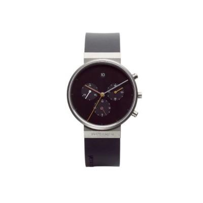 Jacob Jensen Chronograph Series Unisex Quartz Watch with Black Dial Chronograph Display and Black Rubber Strap 600 並行輸入品