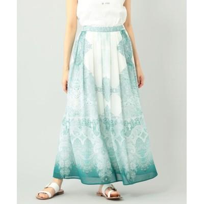 GRACE CONTINENTAL / エスニックプリントマキシスカート WOMEN スカート > スカート
