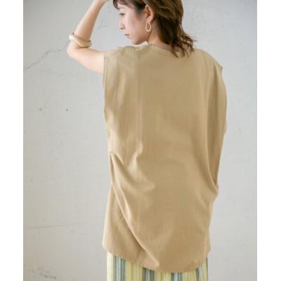 【ケービーエフ】 BIGノースリーブTシャツ レディース BEIGE one KBF
