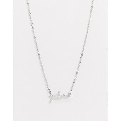エイソス レディース ネックレス・チョーカー アクセサリー ASOS DESIGN necklace with j'adore pendant in silver tone