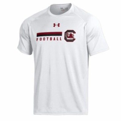Under Armour アンダー アーマー スポーツ用品  Under Armour South Carolina Gamecocks White Football DNA Tech Perform