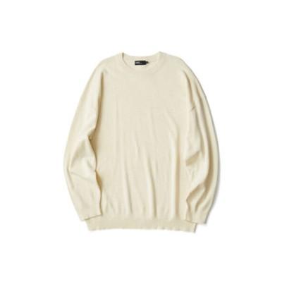 裾柄編みニットプルオーバー