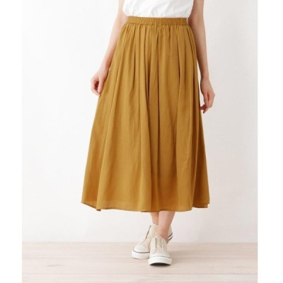 SHOO・LA・RUE / シューラルー サテンギャザースカート