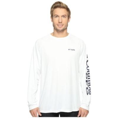 コロンビア Columbia メンズ トップス Tシャツ Terminal Tackle L/S Shirt White/Nightshade Logo