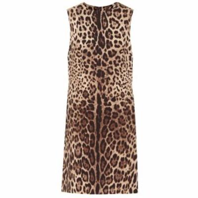 ドルチェandガッバーナ Dolce and Gabbana レディース ワンピース ワンピース・ドレス Leopard-print silk-cady minidress Leo New