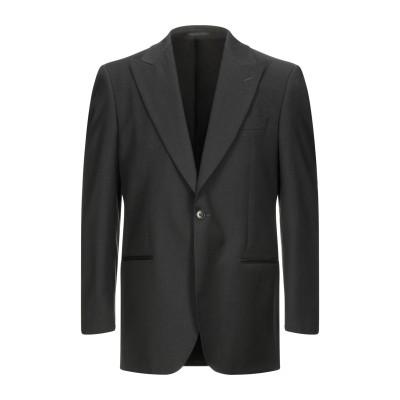 LUBIAM テーラードジャケット ブラック 50 スーパー110 ウール 100% テーラードジャケット