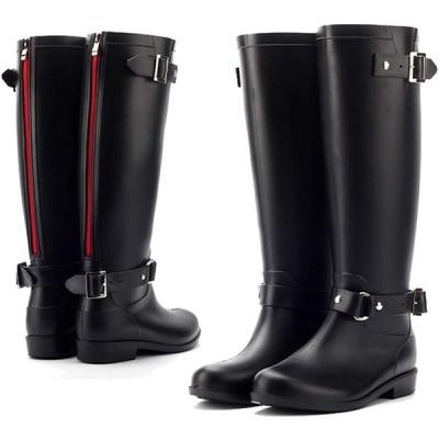 [tqgold] レインブーツ レディース ロング レインシューズ 防水シューズ 超軽量 折りたたみ可能 オフィス 梅雨 台風対策 アウトドア 長靴