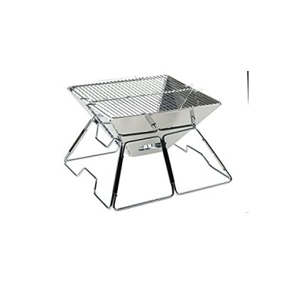 AceCamp Stainless Steel Folding Charcoal BBQ Grill for Outdoor Camping, Qui