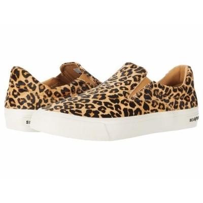 シービーズ スニーカー シューズ メンズ Hawthorne Slip-On Cowhide Leopard Cowhide