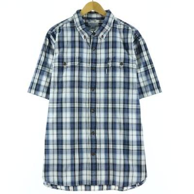 カーハート Carhartt 半袖 ボタンダウンチェックシャツ メンズXXL /eaa147577