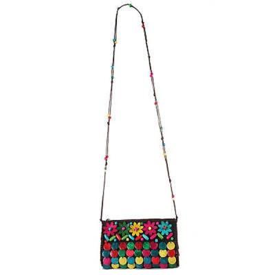 ハンドバッグ 財布 ディオフィ Diophy Multicolored Polyester/PVC Woven Crossbody Handbag Multi