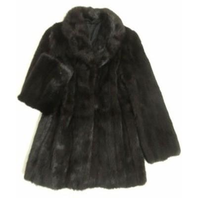 毛並み極美品▼1 MINK ミンク 本毛皮コート ダークブラウン 毛質艶やか・柔らか◎