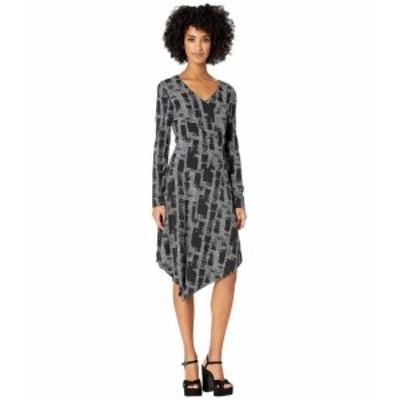 Nicole Miller ニコルミラー ドレス 一般 Painted Herringbone Asymmetrical Dress
