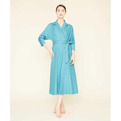 【シビラ】 ポリエステルレーヨンカシュクールデザインドレス レディース ブルー L Sybilla