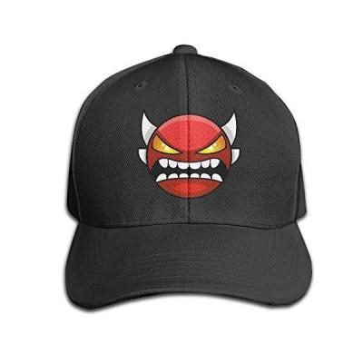 Geometry Dash Insane デーモンフェイス 調節可能なストラップバックキャップ 帽子 クラシックベースボールキャップ US サイズ: