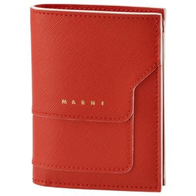 SALE マルニ MARNI 財布 二つ折り ミニ財布 サフィアーノレザー 二つ折り財布 PFMOQ14U07 LV520 Z416W