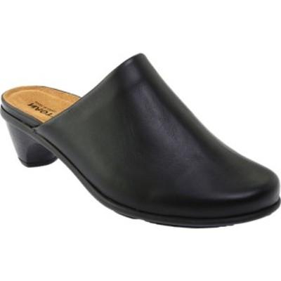 ナオト レディース サンダル シューズ Pioneer Clog Black Raven Leather