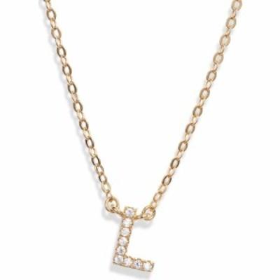 ノードストローム NORDSTROM レディース ネックレス ジュエリー・アクセサリー Delicate Cubic Zirconia Initial Pendant Necklace Clear