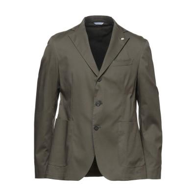 マニュエル リッツ MANUEL RITZ テーラードジャケット ミリタリーグリーン 48 コットン 97% / ポリウレタン 3% テーラードジャ