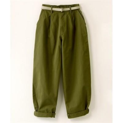 【大きいサイズ】 カーブパンツ(ベルト付)【CASSE】 パンツ, plus size pants
