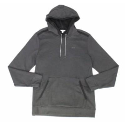Calvin Klein カルバンクライン ファッション トップス Calvin Klein Mens Sweater Black Size Large L Textured Knit Hooded