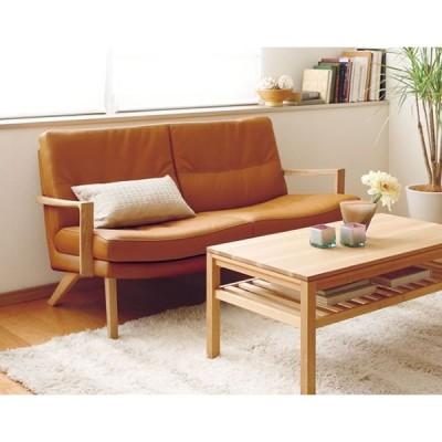 カリモク 2人掛椅子 UU1602 布張