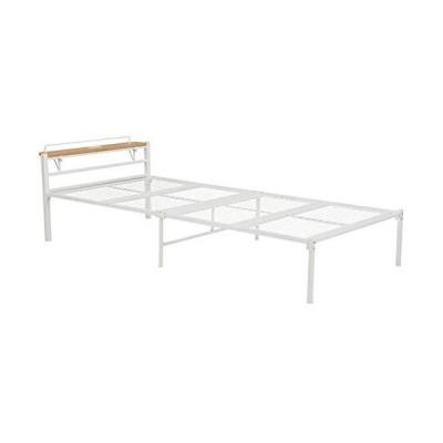 シングルベッド パイプベッド ロータイプ 幅99cm ベッド下収納 スチール アイアン メッシュ床 木製 コンパクト?