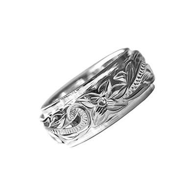 指輪 リング ハワイアンジュエリー 刻印無料 ワントーン シルバー925 メンズ レディース (28)