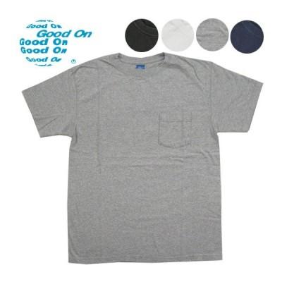 Good On グッドオン Tシャツ クルーネック ポケット半袖Tシャツ ピグメントダイ 米国製