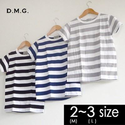メール便可 ドミンゴ ボーダーポケット付き半袖Tシャツ 19-030N-3M レディース トップス カットソー シンプル 日本製 D.M.G 2002277