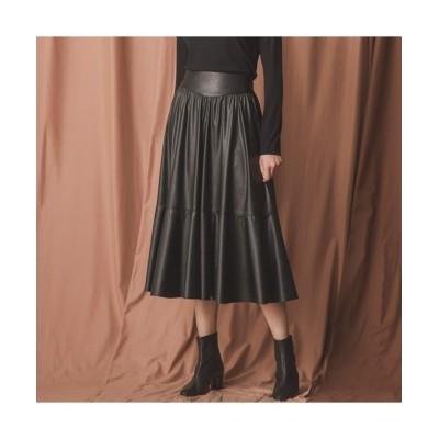 EPOCA THE SHOP / シンセティックレザースカート WOMEN スカート > スカート