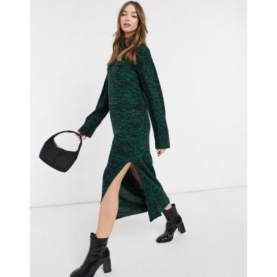 ヴァイオレット ロマンス VIOLET ROMANCE レディース ワンピース ワンピース・ドレス Violet Romance High Neck Midaxi Jumper Dress In Green グリーン