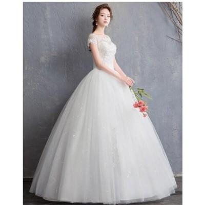 セール♪人気 結婚式 花嫁 パーティードレス  プリンセスライン 素敵 ウエディングドレス ブライダル ワンピース 冠婚 ロング丈 綺麗 二次会ドレス 綺麗 女性