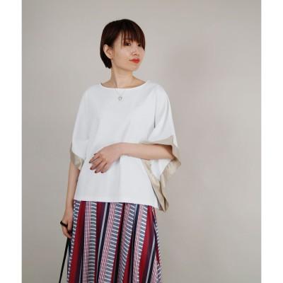 ニコル ホワイト NICOLE white 異素材使いボックスTシャツ (28オフホワイト)