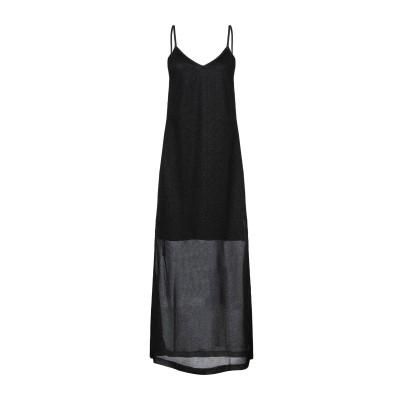 SHOP ★ ART 7分丈ワンピース・ドレス ブラック S ナイロン 70% / 金属繊維 30% 7分丈ワンピース・ドレス