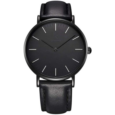 腕時計 レディースウォッチ IK Colouring Fashion Minimalist All Black Ladies Wrist Watch Japan Quartz 7.3mm thin C@@L
