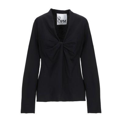 8PM T シャツ ブラック XXS コットン 100% T シャツ