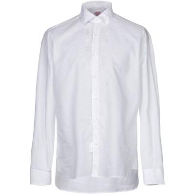 DOMENICO TAGLIENTE シャツ ホワイト 40 コットン 97% / ポリウレタン 3% シャツ