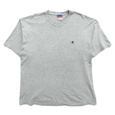 【25%off】古着 チャンピオン Champion ワンポイントTシャツ グレー サイズ表記:XL