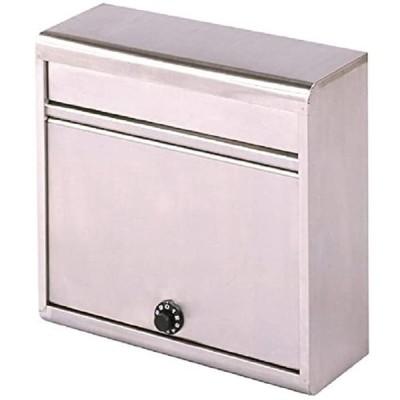 グリーンライフ(GREEN LIFE) 郵便ポスト 薄型ステンレスポスト ダイヤル錠 スリムで設置場所を選ばない 14.0×35.0×37.0cm P