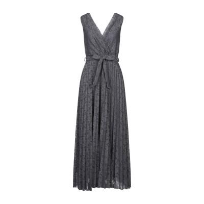 VICOLO ロングワンピース&ドレス グレー one size ポリエステル 96% / ポリウレタン 4% ロングワンピース&ドレス