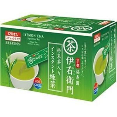 ds-2309526 (まとめ)宇治の露製茶 伊右衛門粉末茶入インスタント緑茶 スティック 0.8g 1箱(120本)【×10セット】 (ds2309526)
