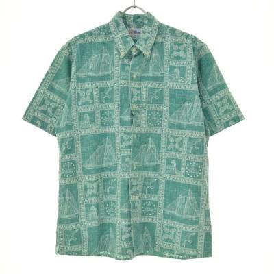 REYN SPOONER / レインスプーナー 90s ビキニタグ 総柄ボタンダウン 半袖シャツ