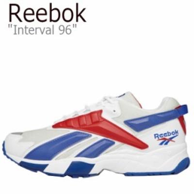 リーボック スニーカー REEBOK メンズ レディース Interval 96 インターバル 96 WHITE BLUE RED FV5474 シューズ
