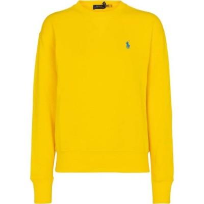 ラルフ ローレン Polo Ralph Lauren レディース スウェット・トレーナー トップス logo cotton-blend sweatshirt University Yellow