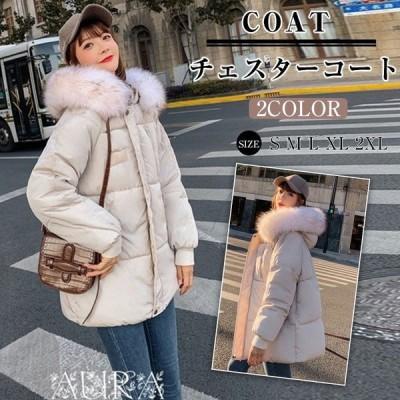 ダウンコート レディース ダウン綿コート SILKSDY32143 Aライン 軽い ダウンジャケット 大きいサイズ レディース 中綿コート 上品 2019
