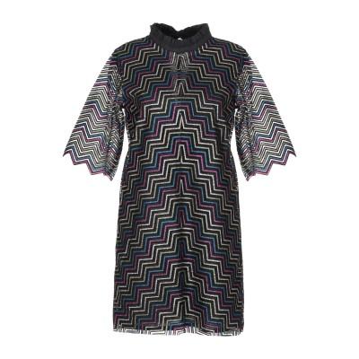 マヌーシュ MANOUSH ミニワンピース&ドレス ブラック 36 ナイロン 100% ミニワンピース&ドレス