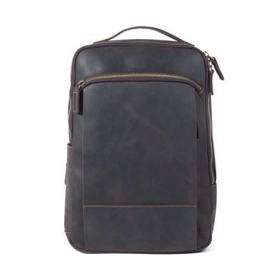 【職人手作り】大容量 復古 本革旅行リュック 男女兼用 高品質牛革リュックサック レザースクールバッグ スポーツバックパック 登山バッグ